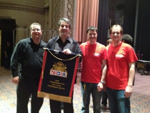 From left to right: Jason Schafer (2003), Gary Fienberg, Ryan Hewitt (2007), and Brian Plagge (2010)