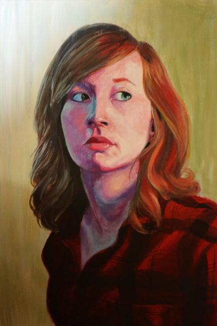 """""""Christi,"""" acrylic on board, 24 in x 36 in, 2012"""