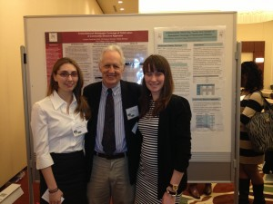 Juniors Jordan Kohn and Sally Milnes with TCNJ communication studies professor Dr. John C. Pollock at the biannual DC Health Communication Conference