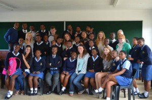 SA TCNJ South Africa crew with DramAidE and Ekwanzini High School Students 081413