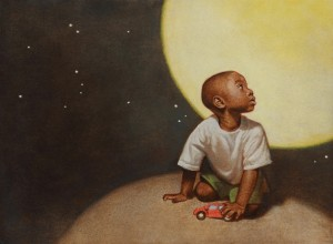 Floyd Cooper, cover image for Max and the Tag-Along Moon, 2013, Philomel Books, artwork courtesy of the artist