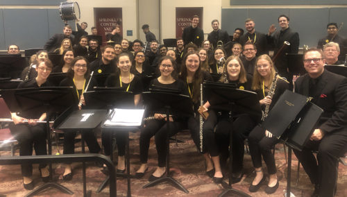 TCNJ Wind Ensemble performers